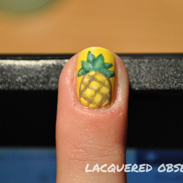 One Pineapple nail art by Lacquered Obsession