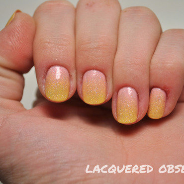 Sun Gradient nail art by Lacquered Obsession