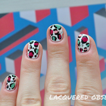 Funky Leo nail art by Lacquered Obsession