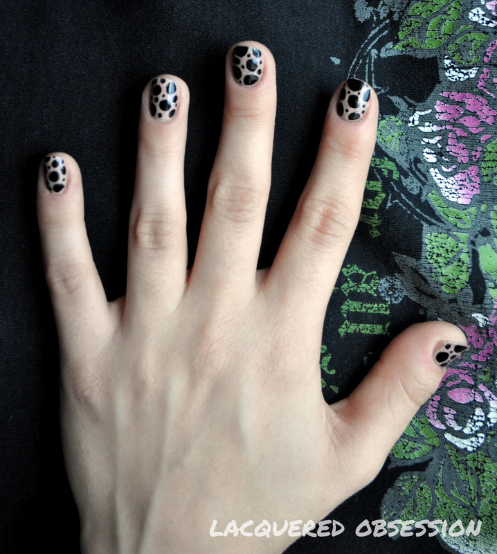 Big Dots nail art by Lacquered Obsession