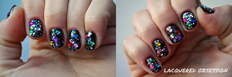 Bejeweled nail art by Lacquered Obsession