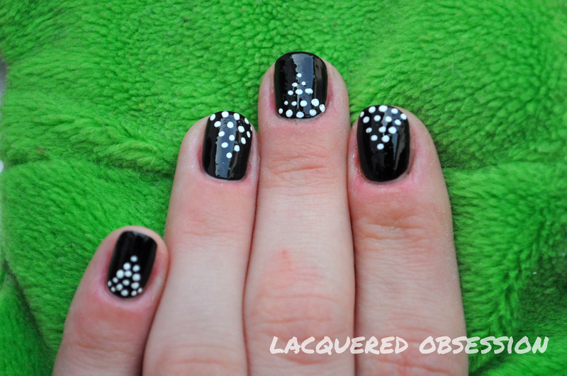 Dotted Triangles nail art by Lacquered Obsession