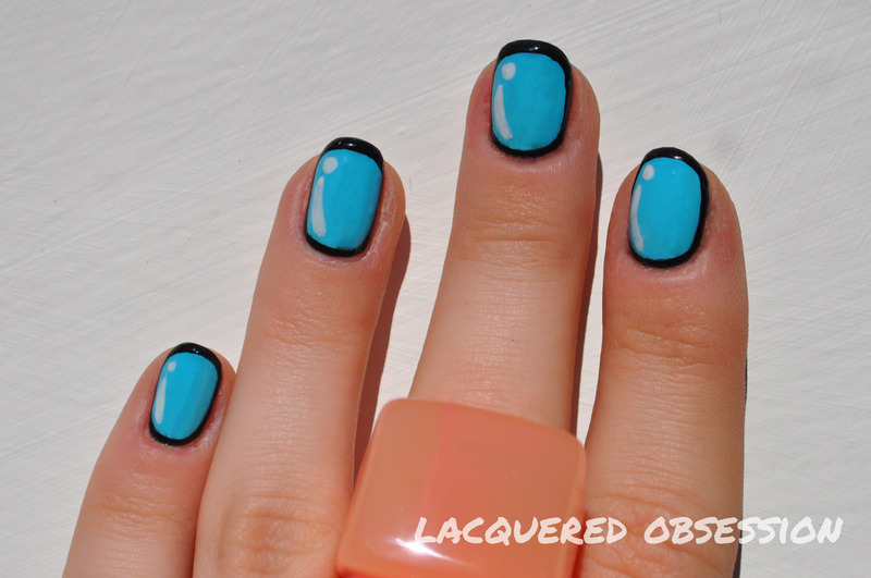 Lichtenstein nail art by Lacquered Obsession