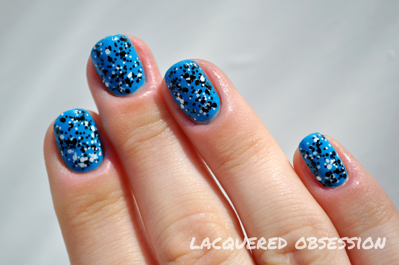 Salt and Pepper nail art by Lacquered Obsession