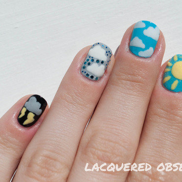 Weather Forecast nail art by Lacquered Obsession