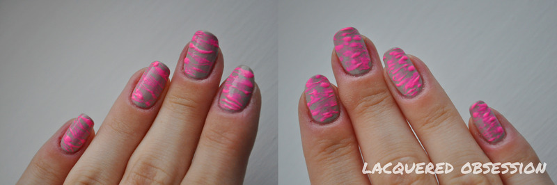Sugarspun nail art by Lacquered Obsession