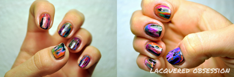 Acid Wash  nail art by Lacquered Obsession