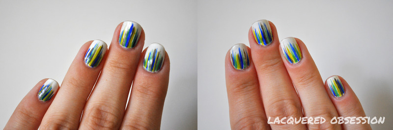 Grassy nail art by Lacquered Obsession