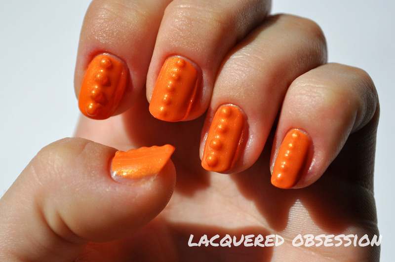 Implants nail art by Lacquered Obsession