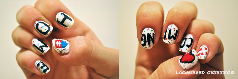 From Denmark To Slovakia nail art by Lacquered Obsession