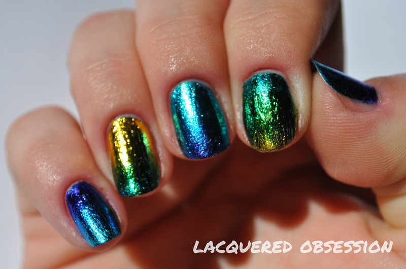 Gradient Foil nail art by Lacquered Obsession