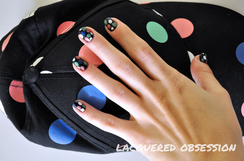 Pastel dots  nail art by Lacquered Obsession