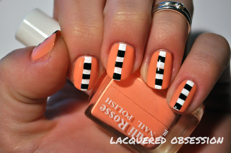 Stripes On Stripe nail art by Lacquered Obsession