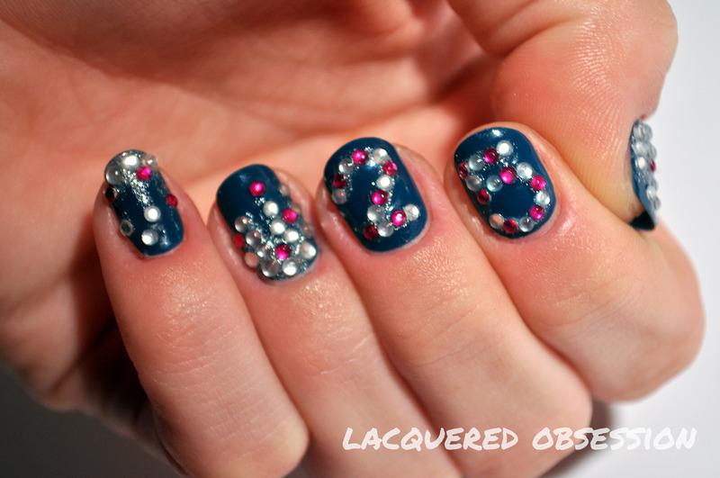 Birthday Mani nail art by Lacquered Obsession