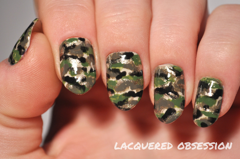Camouflage nail art by Lacquered Obsession - Camouflage Nail Art By Lacquered Obsession - Nailpolis: Museum Of