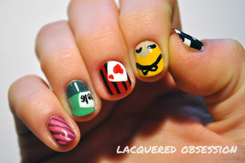 Alice in Wonderland nail art by Lacquered Obsession