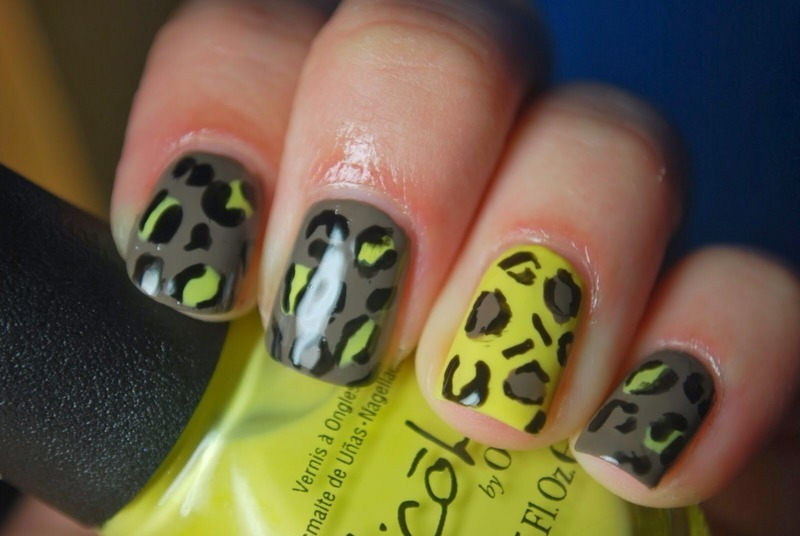 NOPI leopard mani nail art by Holly Cunningham