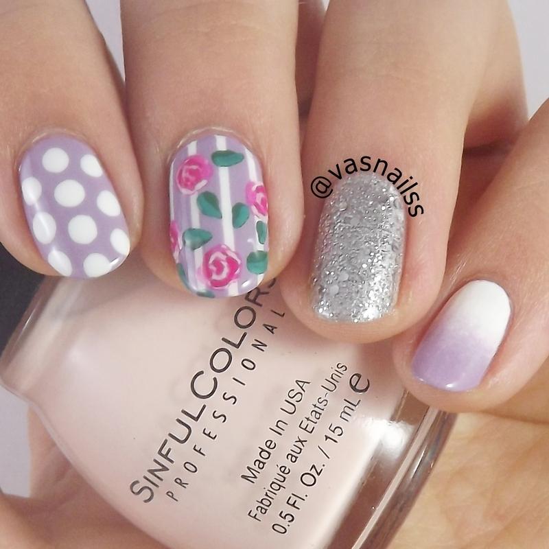 Pastel Mix n Match nail art by  Vanesa