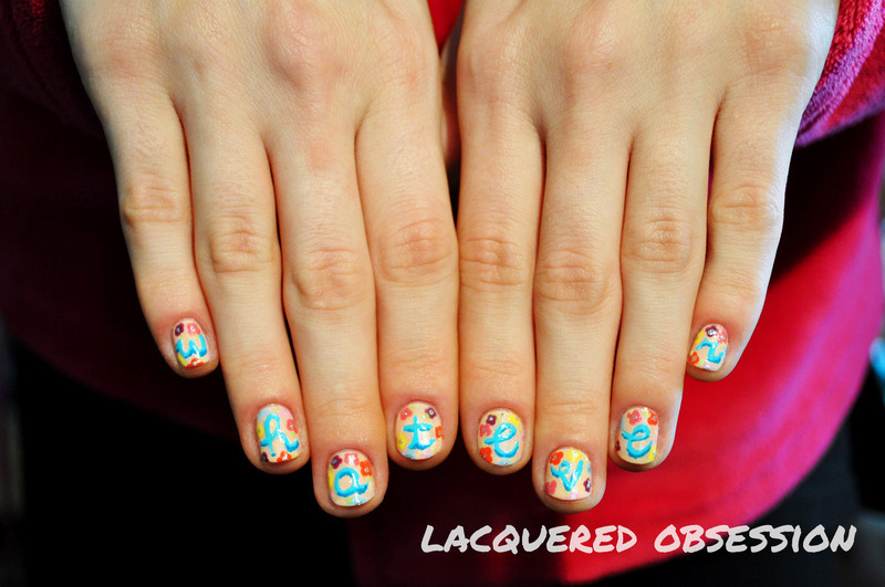 Whatever! nail art by Lacquered Obsession