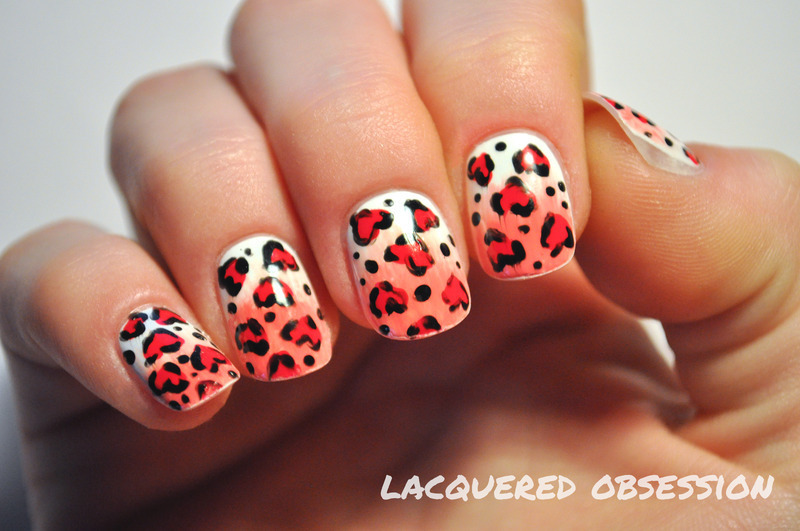 Wild at heart nail art by Lacquered Obsession