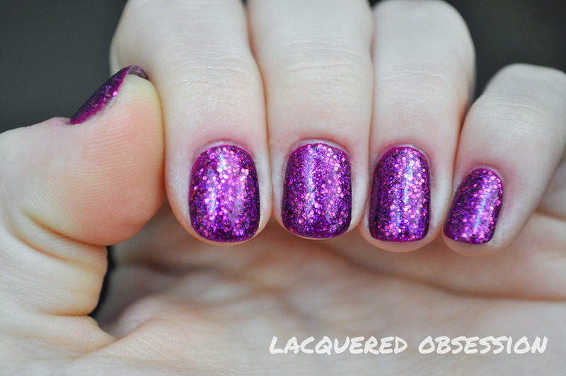 Only Purple nail art by Lacquered Obsession
