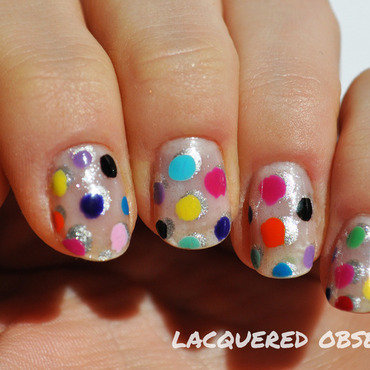Jolly dots nail art by Lacquered Obsession
