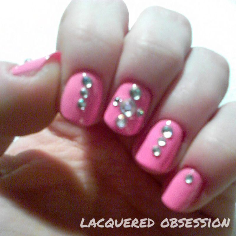 Barbie nail art by Lacquered Obsession