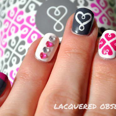 My new water bottle  nail art by Lacquered Obsession