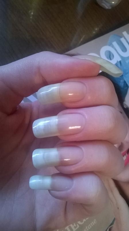 Natural nails nail art by Mila