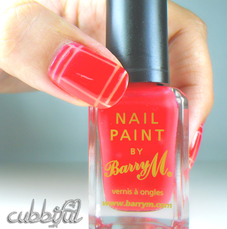 Negative Space Meets Striping Tape nail art by Cubbiful
