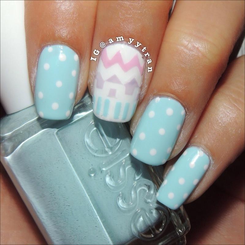 Aztec Nails nail art by Amy