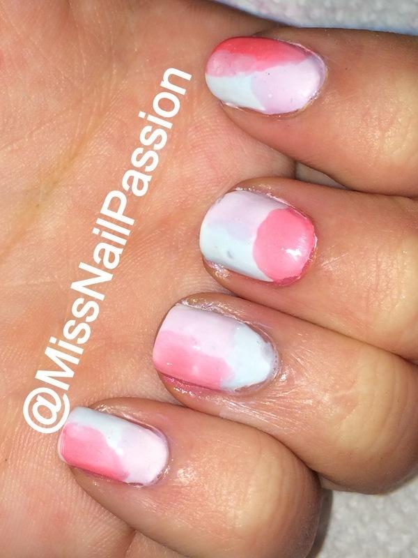 WaterColour Nails nail art by MissNailPassion