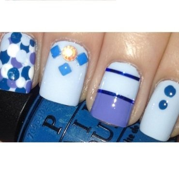 Playful blue | Spring Pastel Nails nail art by Mima