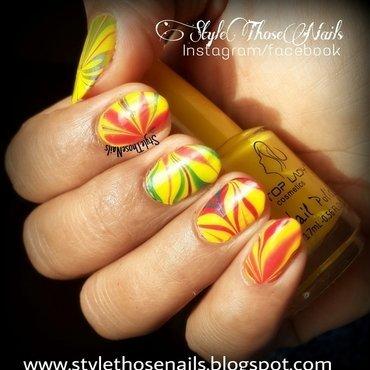 Summer Water Marble Nailart nail art by Anita Style Those Nails