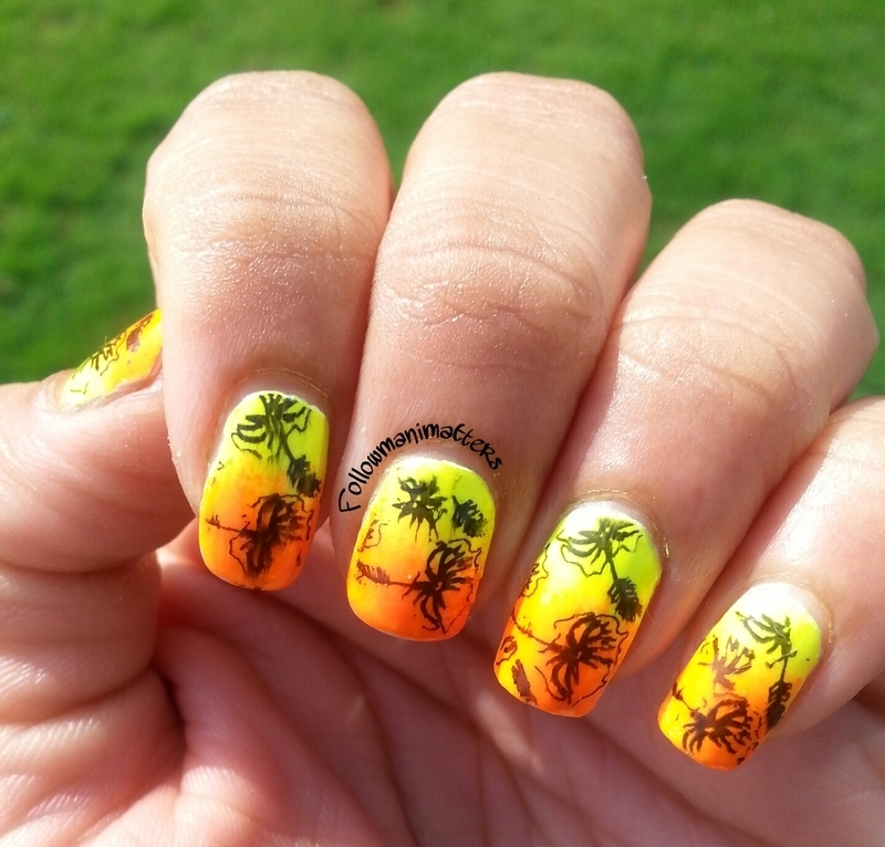 Summer nails nail art by Manisha Manimatters