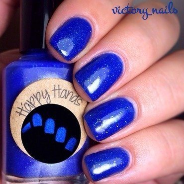 Glisten&Glow HK Girl Top Coat and Happy Hands nail polish The Midnight Society Swatch by Nicole