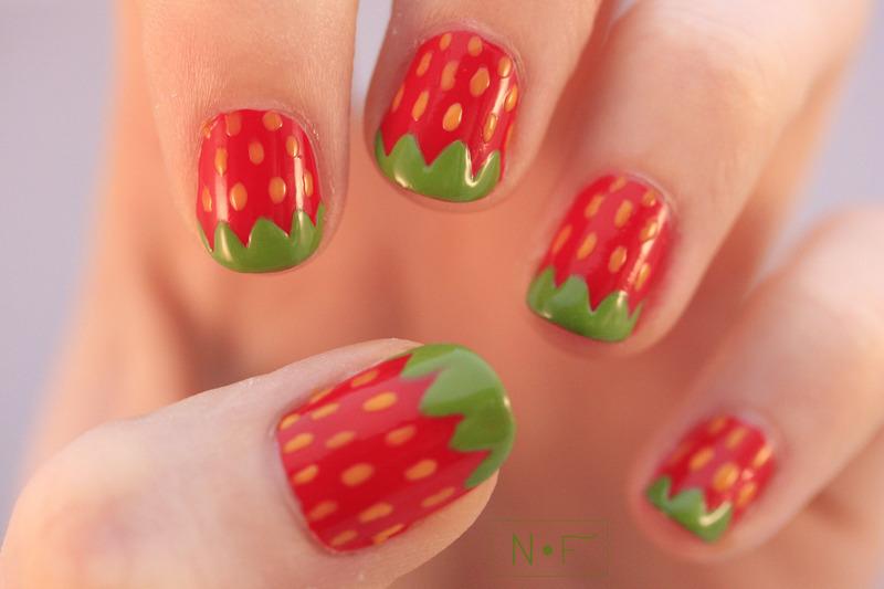 Strawberries nail art by NerdyFleurty