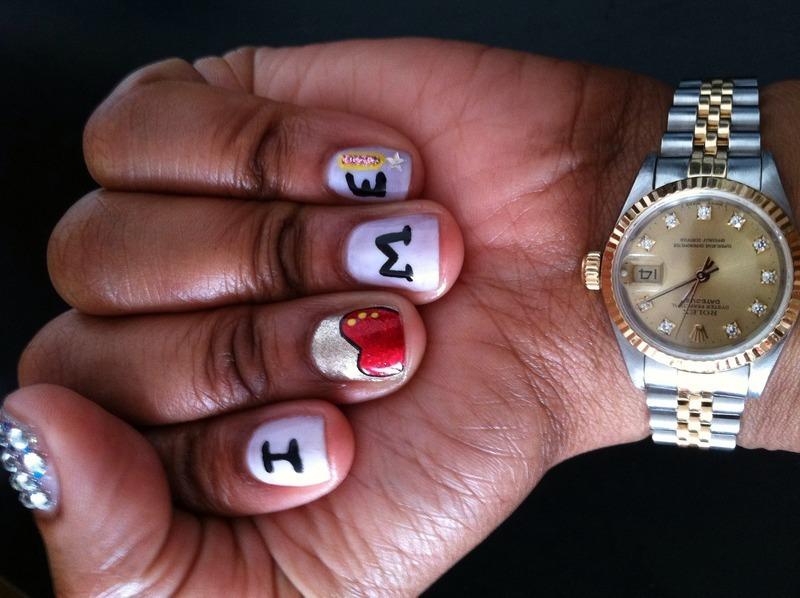 I (Heart) Me!  nail art by YadasNails