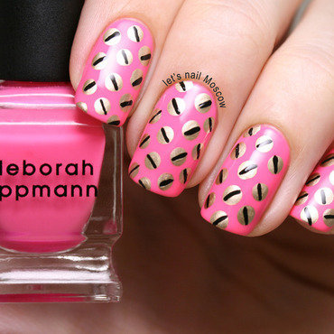 26   31dc2014 inspired by pattern giles pink screw print trousers nails nail art nailart               deborah lippmann i kissed a girl essie as gold as it gets lets nail moscow 2.jpg thumb370f