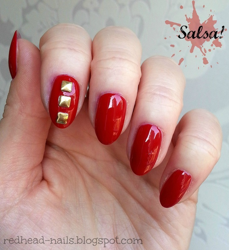 China Glaze Salsa Swatch by Redhead Nails