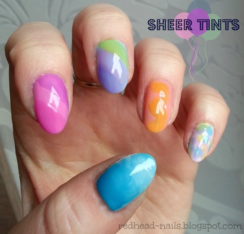 Crazy Colors nail art by Redhead Nails
