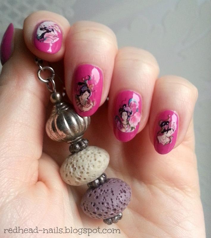 Chinese Art nail art by Redhead Nails