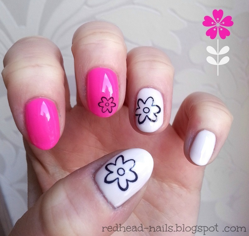 Flowers nail art by Redhead Nails