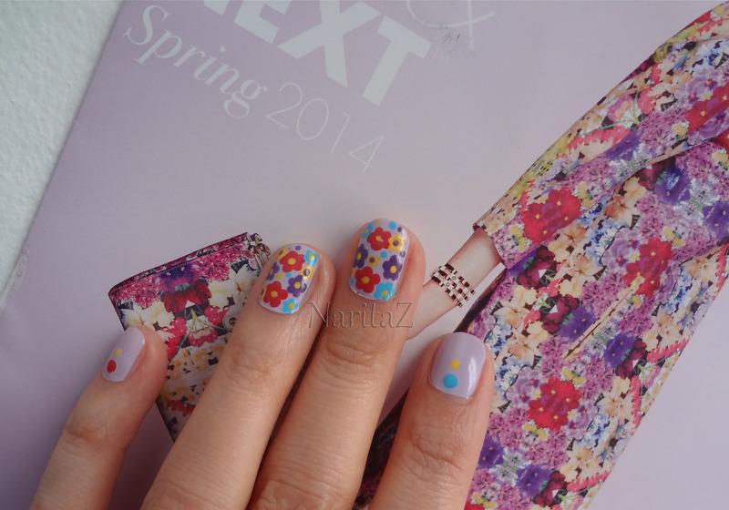 Henri Bendel Spring 2014 Color Inspired Nails nail art by NaritaZ