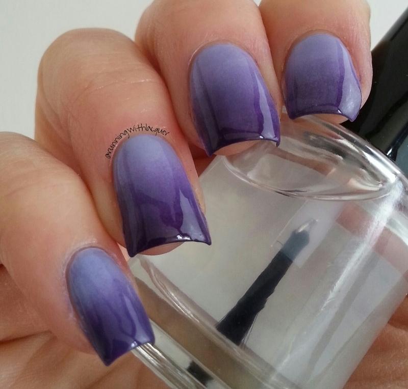 Purple Gradiant nail art by Debbie D