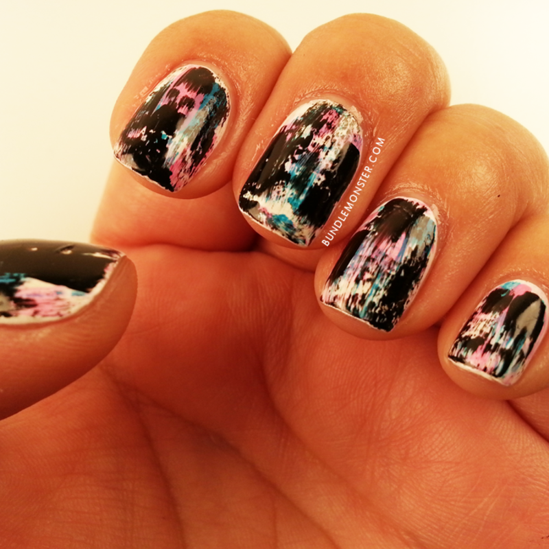 Techno-Grunge nail art by Bundle Monster