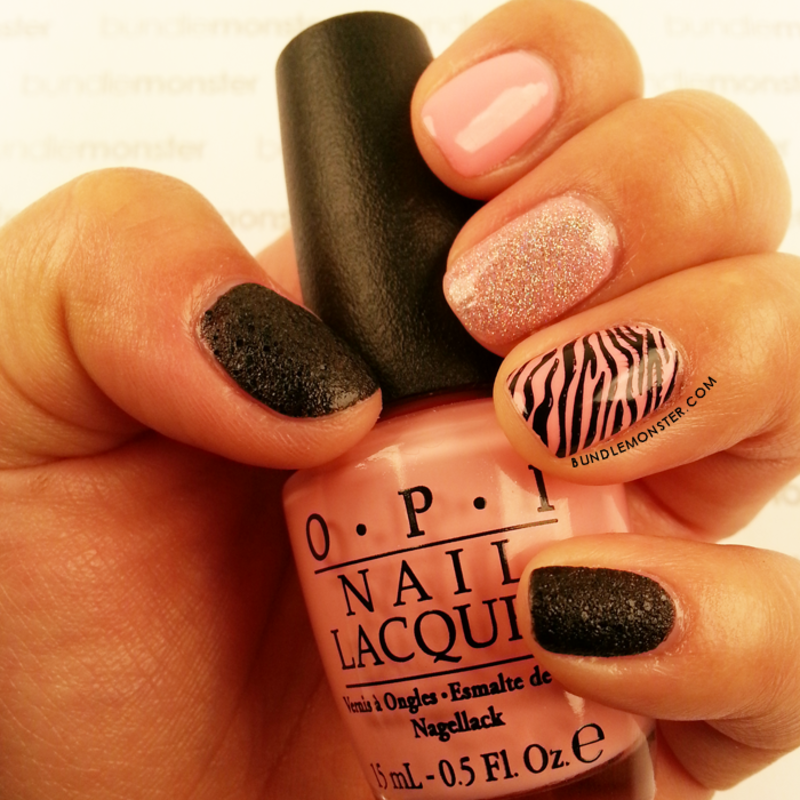 Sassy 'n Pink nail art by Bundle Monster