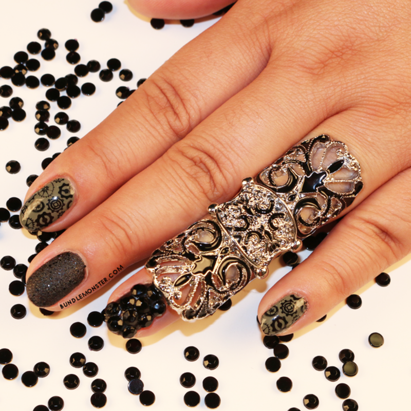 Steampunk Empire nail art by Bundle Monster
