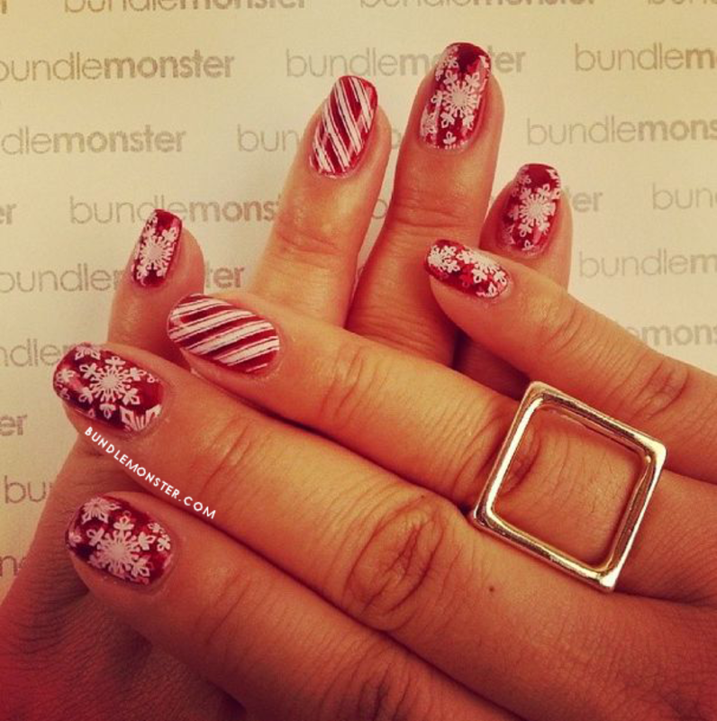 Candy Stripes nail art by Bundle Monster