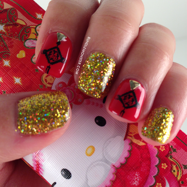Lucky and Blessed nail art by Bundle Monster